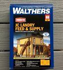 WALTHERS 1/87 HO SCALE CORNERSTONE JC LANDRY FEED & SUPPLY MODEL KIT 933-3662 FS