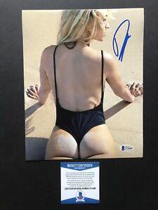 Paige Spiranac autographed signed 8x10 photo Beckett BAS COA Golf Sexy Hot SI