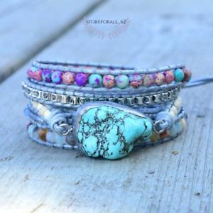 Healing Turquoise Protection Wrap Bracelet