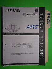 Aiwa nsx-avf77 service manual original repair book stereo receiver cd player