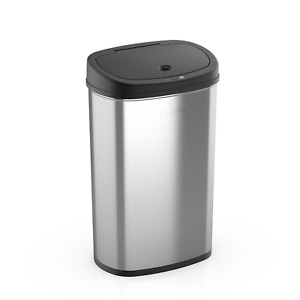 Stainless Steel Trash Can Motion Sensor, Mainstays, 13.2 Gal/50L Automatic Waste