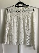Boden Ivory Crochet Top With Camisole New Without Tags Size 16