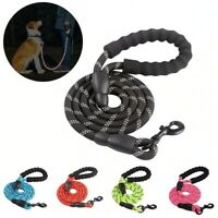 Dog Lead Rope Leash Large Leads Nylon Padded Soft Walking Reflective Braided UK