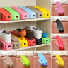 Display Rack Organizer Shoes Space Saving Plastic Storage Rack Multi-color Gift
