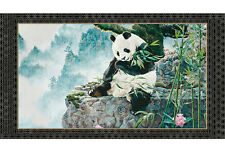 Quilting Treasures ~ Realistic Panda Bears ~ 100% Cotton Quilt Fabric Panel