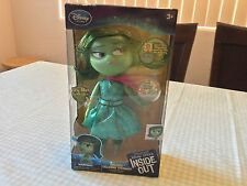 "Disney Store Pixar  Disgust Deluxe Talking Doll Inside Out 10"" H Light Up NIB"