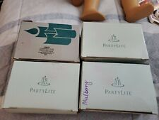 Mixed Lot of 24 Vintage PartyLite Votive Candles Mulberry/Creme Carmel/orange