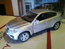 Kinsmart - 1:38 Scale Model BMW X6 Silver (BBKT5336DS) used  4 door pull backcar