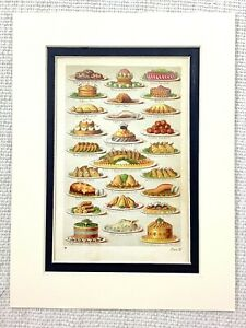 1865 Antique Victorian Print Game Pie Meat Lamb Veal Beef Mrs Beeton Cooking