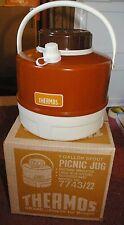 Retro1 Gallon Metal RED  Thermos Picnic Water Jug  in Original Box!  SUPERB!