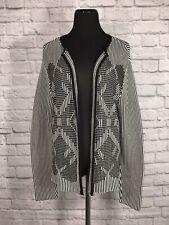 Pendleton Women's Cardigan Sweater Black White Petite XL