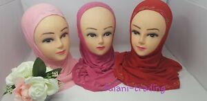 MUSLIM SCHOOL KIDS GIRLS HIJAB ISLAMIC HEADSCARF KIDS CHILDREN HIJAB ONE PIECE