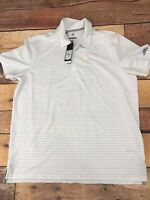 Adidas Golf Mens Polo Shirt Brand New Size XL Striped F206