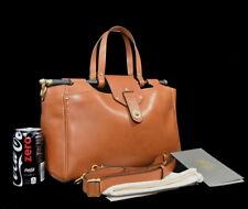 $2395 Ghurka CHARLIE LEATHER SATCHEL SADDLE British Tan French Calfskin Purse