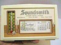 NOS Vintage 1971 [2021] Soundsmith Advertising Desk Top Calendar w/Thermometer