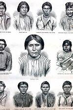 Modoc Indians 1873 CAPTAIN JACK Nasty Jim Charley Dixie MEDICINE MAN Frank Print