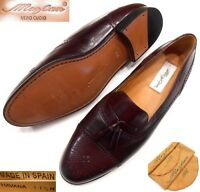 MEZLAN NEW HAVANA TASSEL CAP TOE MEDALLION LOAFERS BROWN MADE IN SPAIN US 11.5 M