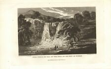 high force or fall of the tees on the west of durham . 1821 engraving !