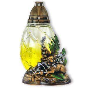 Grablampe Grablaterne Grabkerze Grablicht + Kerze