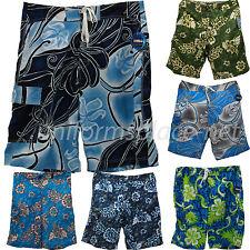 Mens Beach Shorts Utopia/Verona Polyester Floral Cargo Pocket Board, Surf Shorts
