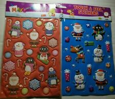 Christmas Touch and Feel 3D tactile puffy stickers - 53 stickers