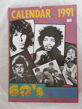 ROLLING STONES DOORS DYLAN BEATLES HENDRIX CALENDRIER 1991 PUBLISHED BY K.G.B.