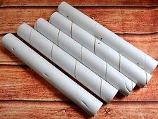 """5 Empty Plastic-Wrap Rolls 11.25"""" Hard Heavy Duty Cardboard Tubes Craft DIY Art"""