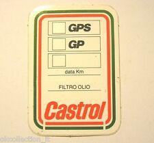 VECCHIO ADESIVO ETICHETTA TAGLIANDO CAMBIO OLIO / Old Sticker CASTROL (cm 4 x 7)