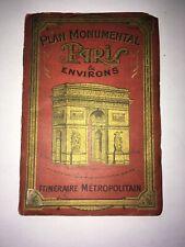 Plan Monumental Paris et Environs. Itineraire Metropolitan