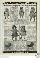 "1926 PAPER AD 30"" Mama Doll Dolls Human Hair Sleeping Eyes Bisque Baby Twins"