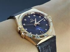 OMEGA 18ct Oro Rosa 35mm Constelación CHOCOLATE GRIFFES Reloj con diamantes
