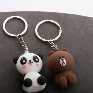 Cute Bear Panda Keychain Ring Gift Car Doll Keyring Handbag Kawaii Pendant Bag