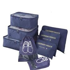 8 pcs Travel Packing Cubes - Luggage Organizers Waterproof Travel Storage Bags