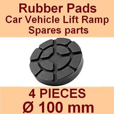SET OF 4 PADS Ravaglioli 2 Post Car Lift Ramp Rubber Pads - 100mm -Made in Italy