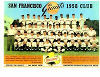 1958 SAN FRANCISCO GIANTS 1ST YEAR TEAM  PHOTO  BASEBALL MAYS CEPEDA HOF