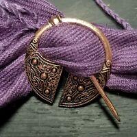 Brooch Pin Celtic Knot Pin Irish Shawl Cloak Pin Scarf Kilt Copper Viking Pagan