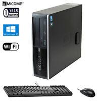 HP Quad Core 3.2Ghz i5 Desktop Computer PC 8GB RAM 250GB HDD WiFi Windows 10 Pro