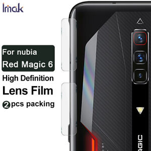 "2pcs IMAK Clear Camera Lens  Glass Film For ZTE nubia Red Magic 6 /  6 pro 6.8"""
