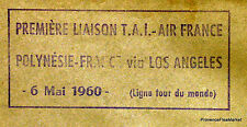 1960 POLYNESIE FRANCE VIA LOS ANGELES    Airmail Aviation premier vol AC05