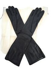 Vintage France Silk Lined Real Kid Leather Gloves size 6.5 New