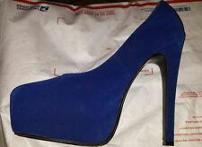 Now save more On sale!DELICACY Shoes blue Size 10 Stilettos Heels Platform Pumps