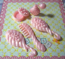 Kelly Chelsea Polymer Small Doll Clothes Barbie's Kelly's Pink Vanity Set CUTE!