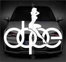 Dope Sexy Girl Logo Sticker Vinyl Decal German Car Sticker ill Euro For BMW Audi