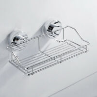 Wall Suction Storage Basket Shelf Rack Kitchen/Bathroom Stainless Steel Shower