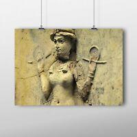 Ishtar/Inanna Queen Of The Night Landscape Poster - Babylon/Sumerian/Anunnaki