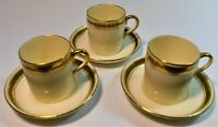 Vintage Coronaware Shancock & Sons Gold and Black Coffee Cup & Saucer Set of 3