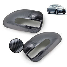 Carbon Black Wing Side Mirror Cover Fits Toyota Vios Corolla Altis Camry 03 11