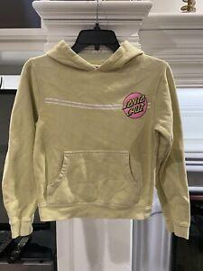 Santa Cruz Hoodie Yellow Sweatshirt Youth Size Small 10-11 Years Old GUC