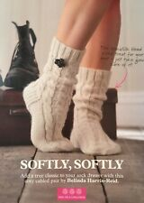 KNITTING PATTERN Ladies Cosy Vertical Cable Striped Socks Accessory PATTERN