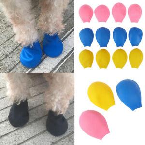 4pcs Pet Dog Rain Shoes Anti Slip Waterproof Pet Dog Cat Rain Shoes Socks Boots